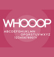 whooop rounded regular sans serif typeface design vector image vector image