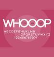 whooop rounded regular sans serif typeface design vector image