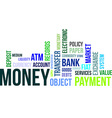 word cloud money vector image vector image