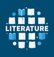 literature round flat - modern vector image