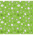 hand drawn stationary seamless pattern vector image