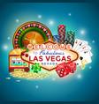 icons set of gambling in las vegas vector image