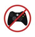 video game console ban joystick symbol vector image