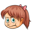A girl biting her lips vector image vector image