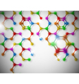 abstract molecular background vector image vector image