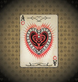 Ace hearts poker cards old look vintage background vector image vector image