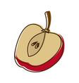 apple slice fruit healthy food nutrition vector image vector image