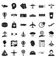 aviation icons set simple style vector image vector image