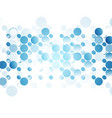 Blue abstract circles on white background vector image vector image