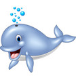 blue whale isolated on white background vector image vector image