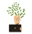 Businessman win Online business deal flat vector image