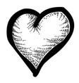 cartoon image of heart icon love symbol vector image vector image