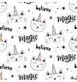caticorns cat unicorn seamless pattern vector image vector image