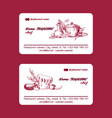 chef cook hat business card template cooking vector image vector image
