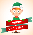 Christmas Elf Card vector image