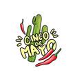 cinco de mayo hand drawn festive vector image vector image