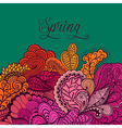 Decorative element lace border Spring lettering vector image