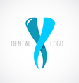 Dental logo template Stomatology sign vector image vector image