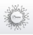 elegant floral mandala design background vector image vector image