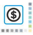 finance framed icon vector image