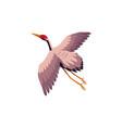 flat cartoon japan crane flapping wings vector image vector image