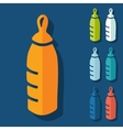 Flat design baby bottle vector image vector image