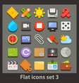 flat icon-set 3 vector image vector image