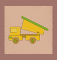 flat shading style icon kids truck vector image