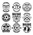 football or soccer hooligans and bandits emblems vector image vector image