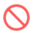 forbidden halftone dotted icon vector image
