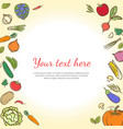 fruits and vegetables cute banner background vector image vector image