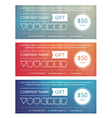 Gift voucher template with clean and modern patter vector image