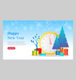 happy new year winter holidays celebration web vector image vector image