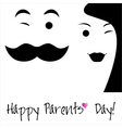 Happy Parents Day background or card vector image vector image