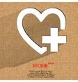 Heart Flat modern web design on a flat geometric vector image