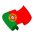 isolated flag of portugal vector image