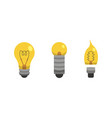 light bulb and lamp set in cartoon style main vector image vector image