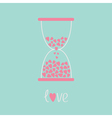 Love hourglass with hearts inside Blue and pink Ca vector image vector image