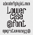 lower case font isolated english alphabet vector image
