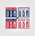 made in usa american symbol design vector image