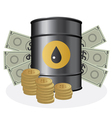 oil and money vector image