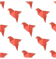 Origami bird seamless pattern vector image vector image