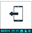 outcoming calls icon flat vector image vector image