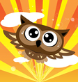 Owl flying quickly vector image vector image