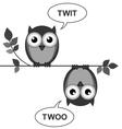 OWL TWIT TWOO vector image vector image