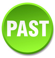 past green round flat isolated push button vector image vector image
