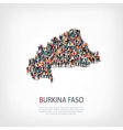 people map country Burkina Faso vector image vector image