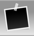 photo frame on sticky tape template design vector image
