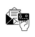 postage payment black linear icon vector image