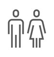public navigation line icon wc toilet vector image